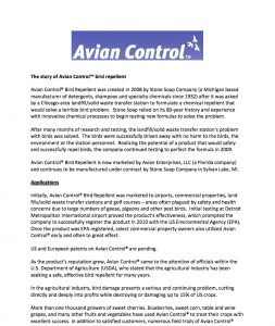 The history behind Avian Control®