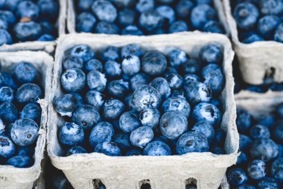 cartons of blueberries